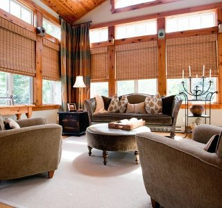 Deer Lake Renovation Sunroom design and furnishing detail.